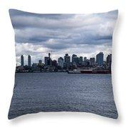 Seattle Sun Breaks Throw Pillow