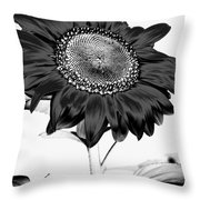 Seattle Sunflower Bw Invert - Stronger Throw Pillow