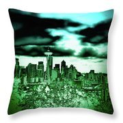 Seattle - The Emerald City Throw Pillow