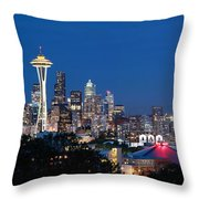 Seattle Twight Throw Pillow