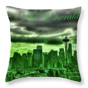 Seattle Washington - The Emerald City Throw Pillow
