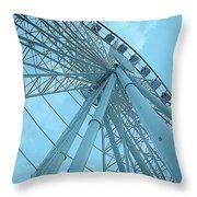Seattle Wheel Throw Pillow