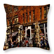 Seattle's Underground Tour Throw Pillow by David Patterson