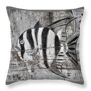 Seawall Art Throw Pillow
