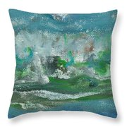 Seawaves Throw Pillow