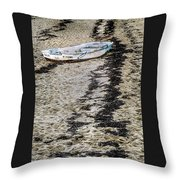 Seaweed And Sand Throw Pillow