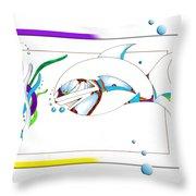 Seaweed Fish Illustration Throw Pillow
