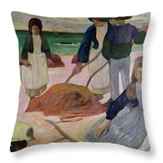 Seaweed Gatherers Throw Pillow