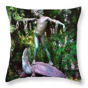 Seaweed Girl Throw Pillow