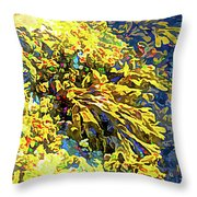 Seaweed On Rock In Ocean Throw Pillow