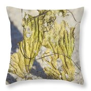 Seaweed Sisters Throw Pillow