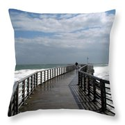 Sebastian Inlet On The Atlantic Coast Of Florida Throw Pillow