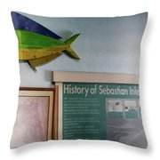 Sebastian Inlet State Park Ix Throw Pillow