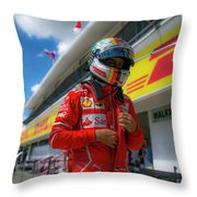 Sebastian Vettel Ferrari  Throw Pillow
