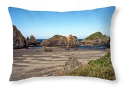 Secluded Beach Throw Pillow