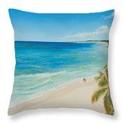 Secluded Beach Walk Throw Pillow