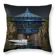 Secluded Condo On The Water Throw Pillow