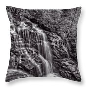 Secluded Falls - Bw Throw Pillow