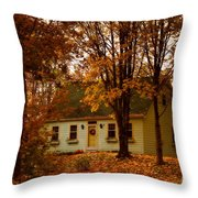 Secluded In The Trees Throw Pillow
