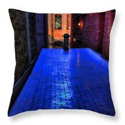 Secluded Patio Throw Pillow