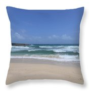 Secluded Remote Beach Of Boca Keto In Aruba Throw Pillow