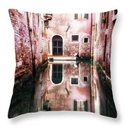 Secluded Venice Throw Pillow