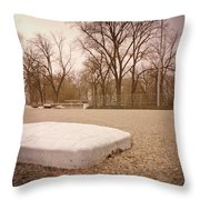 Second Base Throw Pillow