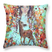 Second Chakra  Angel A Supernova Who Grew Up To Be Stardust Throw Pillow