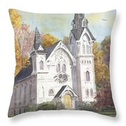 Second Congregational Church Throw Pillow