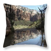 Second Emerald Pool Throw Pillow by Kenneth Hadlock