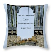 Second Fastest Draw Throw Pillow