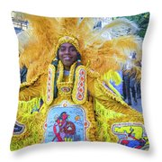 Second Line Nola _ Painted Throw Pillow