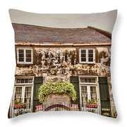 Second Story Cottage Throw Pillow