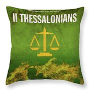 Second Thessalonians Books Of The Bible Series New Testament Minimal Poster Art Number 14 Throw Pillow