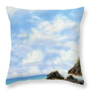 Secret Beach Sky Throw Pillow