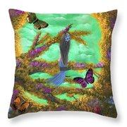 Secret Butterfly Garden Throw Pillow