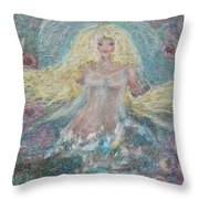 Secret Garden Angel 3 Throw Pillow