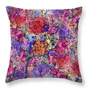 Secret Garden Flowers Throw Pillow