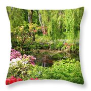 Secret Garden Pond Throw Pillow
