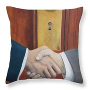 Secret Handshake Throw Pillow