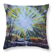 Secret In The Forest Throw Pillow