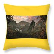 Secret Land Throw Pillow