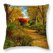 Secret Path Fall Perfection  Throw Pillow