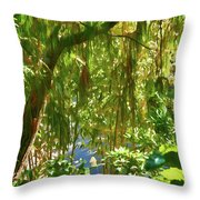 Secret Place By The Water Throw Pillow