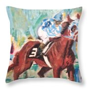 Secretariat 1973 Throw Pillow