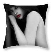 Secretive Lust Throw Pillow