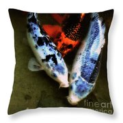 Secrets Of The Wild Koi 10 Throw Pillow
