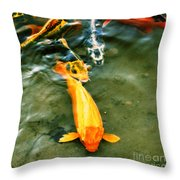 Secrets Of The Wild Koi 11 Throw Pillow