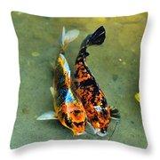 Secrets Of The Wild Koi 15  Throw Pillow
