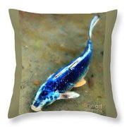 Secrets Of The Wild Koi 18 Throw Pillow
